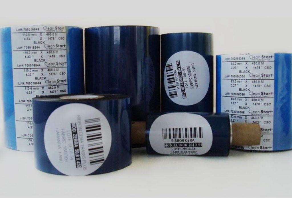 Ribbons para impresión de etiquetas en rollo